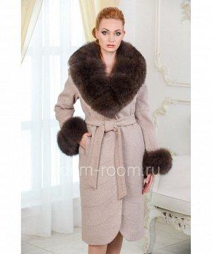 Пальто с мехом утепленноеАртикул: TG-201-110-K-P