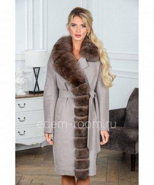 Пальто с мехом песцаАртикул: G-2302-105-SR-P