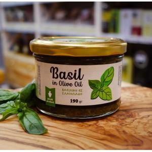 Свежий базилик в оливковом масле Evros, 190г