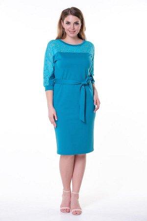 Платье Эва №5. Цвет:бирюзовый