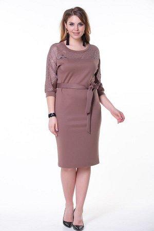 Платье Эва №6. Цвет:темно-бежевый