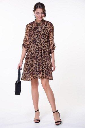 Платье Амина №4 .Цвет:леопард