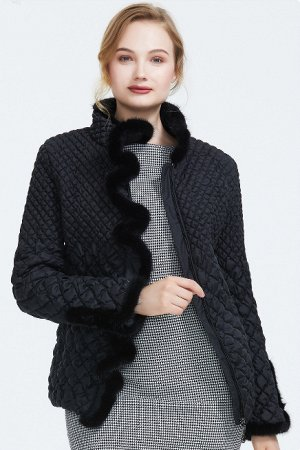 ХИТ ПРОДАЖ! Демисезонная женская куртка с МЕХОМ НОРКИ, цвет черный