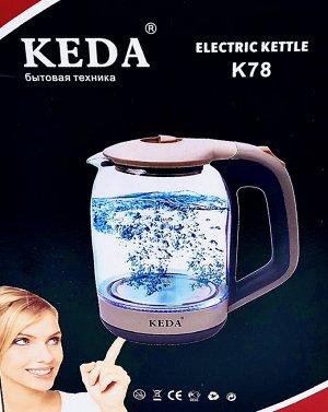 Чайник электрический стеклянный Keda K78. 1,8 л.