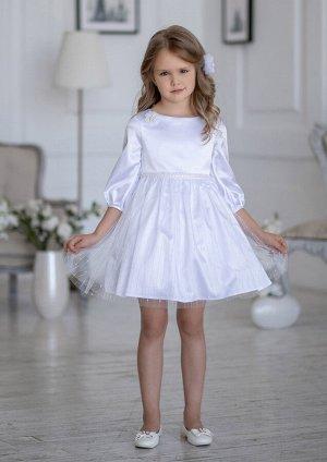 Блума нарядное платье белый