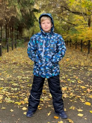 Куртка зимняя для мальчиков (Ткань верха Мембранная,утеплитель Сиберия 300 , подкладка флис 180/тафета,застежка-молния, по л/тал