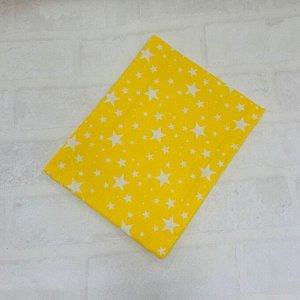 Простынь полуторная Жёлтый, звездопад