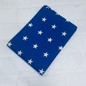 Наволочка 50х70 Темно синий, звезда средняя