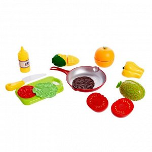 Игровой набор продуктов для нарезки «Готовим вкусно», на липучках, МИКС