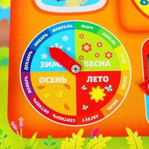 """Обучающая доска, календарь """"Домик"""" 25х25 см"""