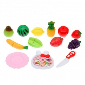 """Набор продуктов для нарезки на липучках """"Фруктово-овощной микс-3"""""""