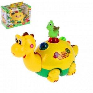 """Музыкальная игрушка """"Динозаврик с малышом"""", световые и звуковые эффекты"""