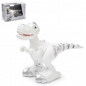 Интерактивный робот «Умный Динозавр» с подвижным хвостом, ходит, реагирует на касания, работает от батареек