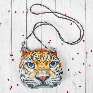 Мягкая сумочка «Леопард», на верёвочке