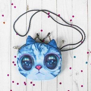 Мягкая сумочка «Киса», на верёвочке, большие глазки