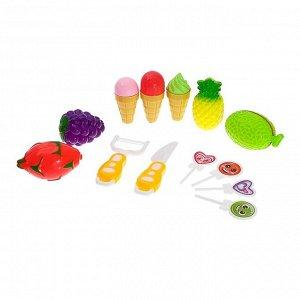 Игровой набор продуктов для нарезки «Фруктовое ассорти» на липучках