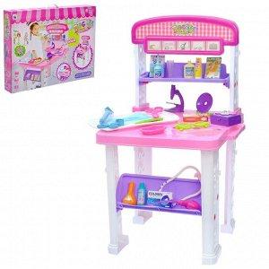 Игровой набор «Столик медсестры», 2 варианта сборки, 23 предмета, высота 70 см
