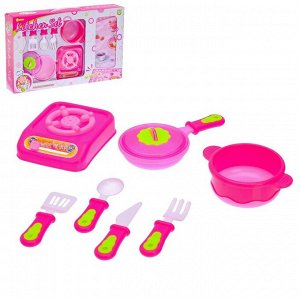"Набор посуды с плитой ""Готовим вкусно"", 8 предметов"