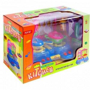 Игровой модуль мини-кухня «Летний день» с аксессуарами, световые и звуковые эффекты
