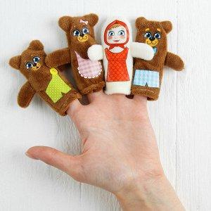 Кукольный театр «Три медведя», набор: 4 персонажа, сценарий