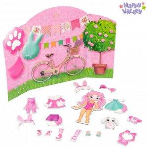Магнитный набор с куклой, фоном и наклейками «Карнавал у Кэтти»