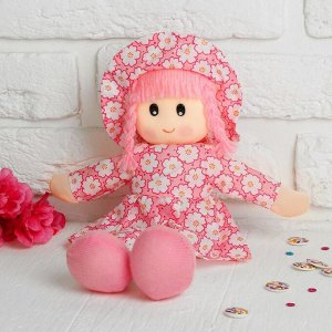 Мягкая игрушка «Кукла», в шляпке и платьишке, цвета МИКС