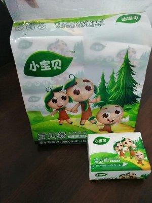 Салфетки бумажные 4-слойные, мягкая упаковка
