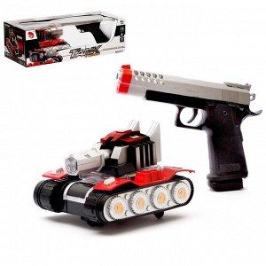Танк «Артиллерия», с пистолетом, световые и звуковые эффекты, работает от батареек