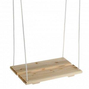Качели подвесные, деревянные, сиденье 40?22см