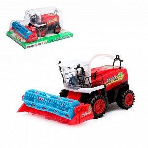 Трактор инерционный «Комбайн», цвета МИКС