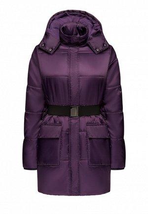 Утеплённая стёганая куртка с поясом