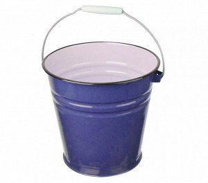 Ведро 12,0л эм б/к синий с зерн