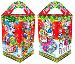 """Новогодняя коробка для конфет и подарков """"Мышиный пир"""" с анимацией"""