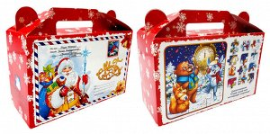"""Новогодняя коробка для конфет и подарков """"Письмо с пазлами"""" с анимацией и игрой"""