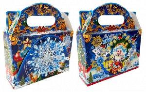 """Новогодняя коробка для конфет и подарков """"Встреча"""" с игрой"""