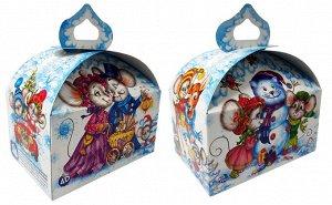 """Новогодняя коробка для конфет и подарков """"Семейка Мышкиных"""""""