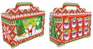 """Новогодняя коробка для конфет и подарков """"Синема"""" с игрой"""