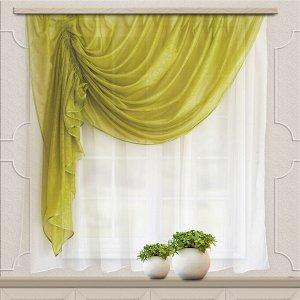 Комплект штор для кухни Дорис 285*160 зел.яблоко лев.