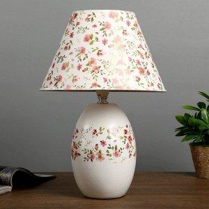 """Лампа настольная """"Сатин"""" 1х40Вт Е14 белый 27х27х38 см."""