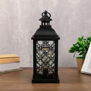 "Ночник ""Домашний фонарь"" LED черный 13.5х13.5х39 см."