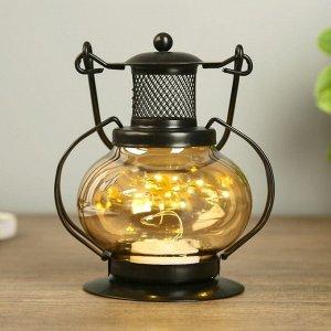 """Ночник настольный """"Фонарь"""" LED черный 11.5х11.5х20 см."""