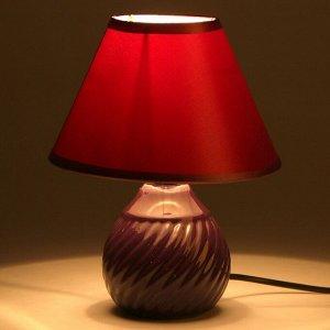 """Лампа настольная """"Волны"""" 1x40W E14 темно-фиолетовый 17x17x22 см"""
