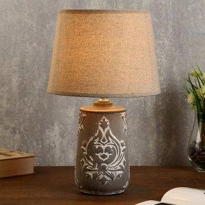 """Лампа настольная """"Латте"""" 1х40Вт E14 серый 20х20х34 см."""