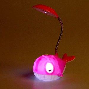 """Лампа настольная """"Кит"""" МИКС 14 LED (2 режима работы. выдвижная розетка) 9х14х26 см"""