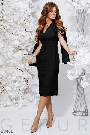 Черное платье-кейп или обмен