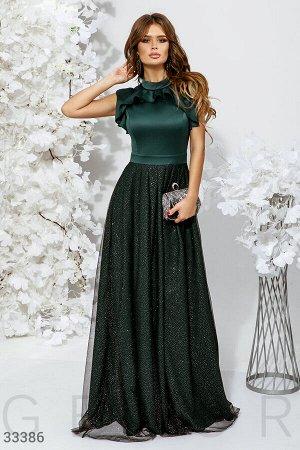 Платье с воздушными оборками