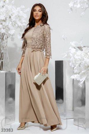 Изящное платье-макси с болеро