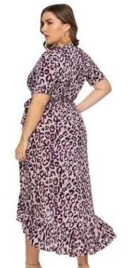 Платье Платье, оформленное V-образным вырезом горловины, полиэстер. Размер (обхват груди, обхват талии, длина изделия, см): XL (108,90,125), 2XL (114,96,127), 3XL (120,102,129), 4XL (126,108,131), 5XL