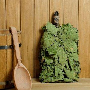 Веник для бани дубовый, в индивидуальной упаковке