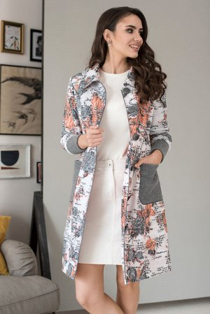 Пальто Пальто ЮРС 18-791/2  Состав ткани: Вискоза-25%; ПЭ-71%; Спандекс-4%;  Рост: 164 см.  Совершенно невозможно представить себе гардероб женской одежды без оригинального, стильного и модного пальт